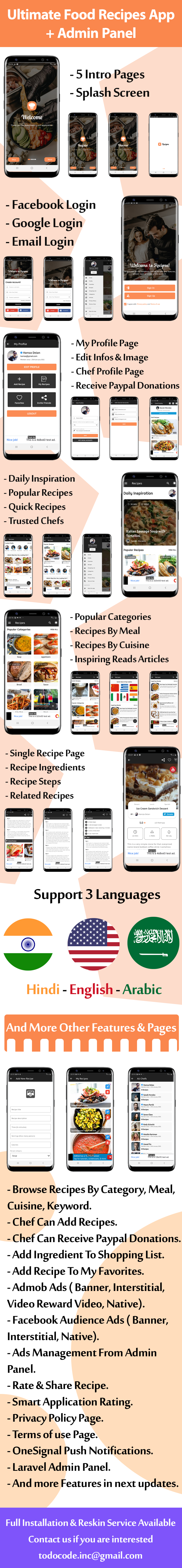 Ultimate Food Recipes App with Admin Panel - 3