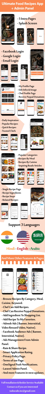 Application Ultimate Food Recipes avec panneau d'administration - 3